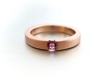 Rose gold tension ring