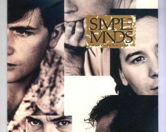Simple Minds, Once Upon a Time, Vintage Record Album, 1985 A&M Virgin LP, New Wave Pop Rock