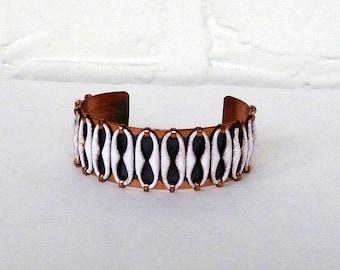 Matisse Copper Espana White Enamel Cuff Bracelet