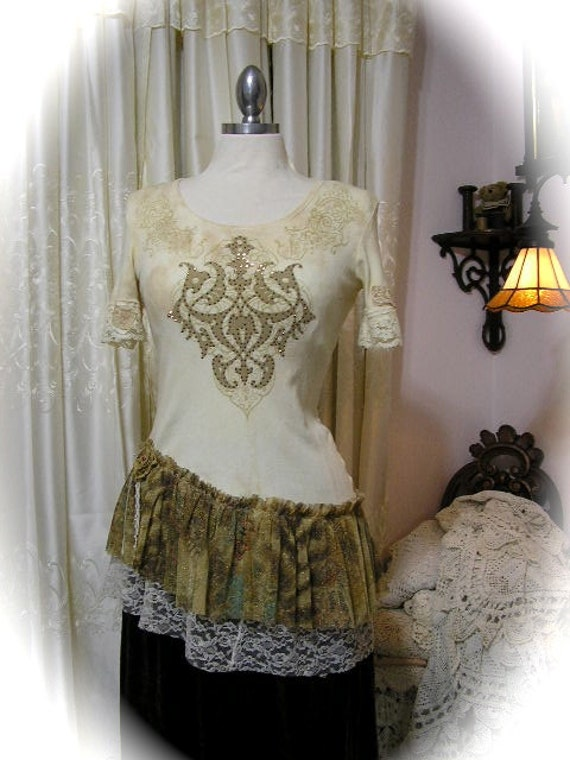 upcycled tshirt altered and refashioned shirt top soft