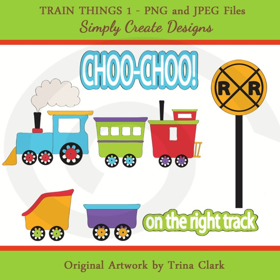 Trains Clipart Boys Trains Clip art Commercial and Personal Use