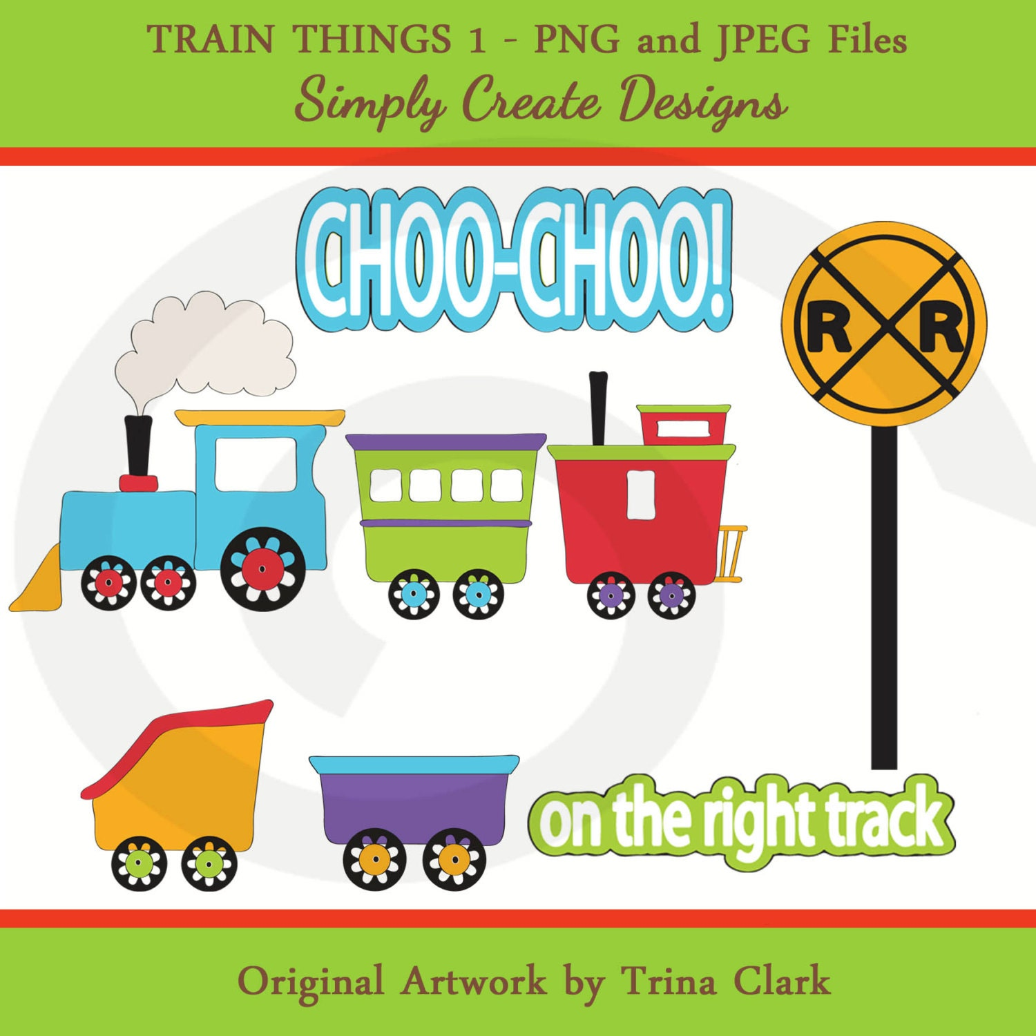 Thomas The Train Tracks Clip Art Sale trains clipart boys