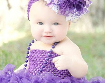 Purple Passion Over the Top Boutique Hair Bow Headband