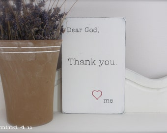 Dear God Sign, Wall Art, Wood Sign, Custom Wood Sign, Vintage Sign, Quote Sign