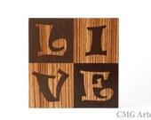 OOAK Wood Inlay LIVE Art Work - Art Design - Marquetry - Handmade Woodwork - Home Decor