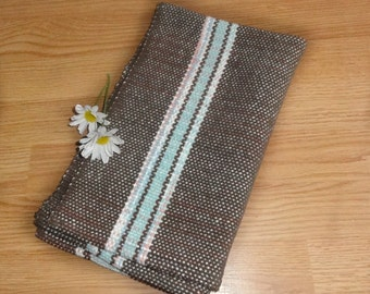 Woven Kitchen Towel Handwoven in Chocolate Sprinkles by Canterlily