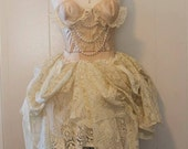 Steampunk Wedding Dress - Dusty Ballet Whimsical Dress - Made to Order - Vintage