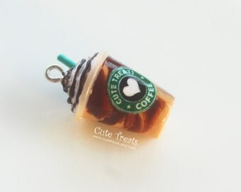 Starbucks Mocha Frappuccino Inspired Necklace