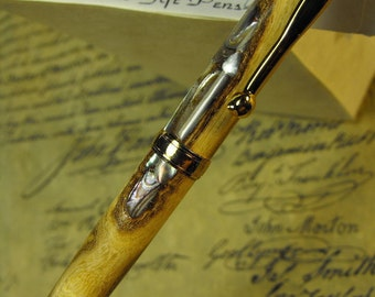 Mother of Pearl Inlaid  Battle of Princeton Pen