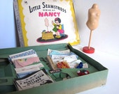Little Seamstress Nancy, Collectable Sewing Kit, with mannequin, 1949