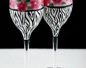 Zebra Print Wine Glasses