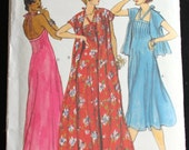 Vogue 9703 Vintage Size 10 Sewing Pattern - Maxi Dress Halter Pin-tucked Prom Ready