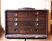 Vintage Union Tool Chest - Wood Machinist's Chest with Six Drawers - Model DD-17