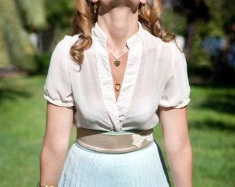 Ivory Bridal Belt - Wedding Belt - Satin Sash - Satin Belt - Sequin Belt - Ivory Belt - Applique Belt - Bridesmaid Belt