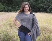 Chic Crochet Women Slider Sweater - Shawl - Poncho - Wrap