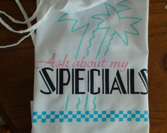 """Cookout, Barbecue, Patio Apron """"Ask About My Specials"""""""