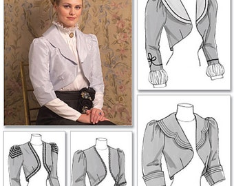 Victorian Jacket Pattern Uncut Butterick B5232 Bust 30 to 34 Steampunk Evening Bolero Shrug Cropped Jackets Womens Sewing Patterns