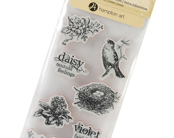 Cling Mounted Rubber Stamps from Graphic 45 - Secret Garden 3