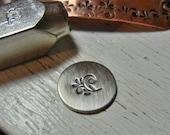 Metal Stamp SALE - Floral Swirl Design Stamp 6mm - Metal Design Stamp for Hand Stamped Jewelry - Design Punch ImpressArt