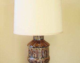 Mid Century Lamp Ceramic ABSTRACT Polynesian