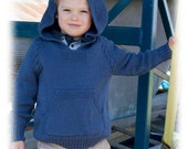 Atherton a Top Down No Sew Hoodie with Cable Trim knitting pattern download kids sizes 2 to 16