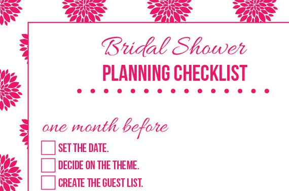 Planning A Wedding Shower Checklist Bridal Krtsy