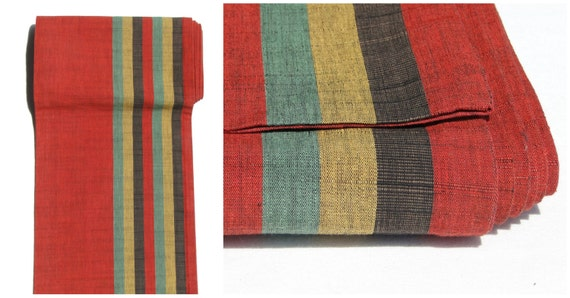 vintage japanese obi table runner wall hanging red green. Black Bedroom Furniture Sets. Home Design Ideas