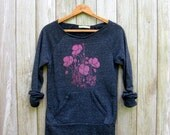 can't wait for spring Poppies Sweatshirt, Floral Sweater, Gardening Shirt, S,M,L,XL,2XL