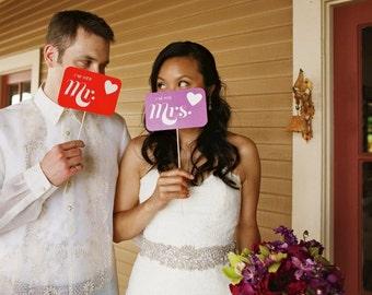 I'm His Mrs I'm Her Mr Signs - Custom Colors