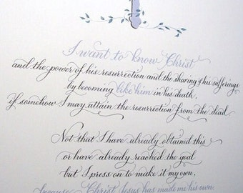 In recognition of life's accomplishments & milestones from birth certificates to memorials.  Calligraphy and Custom art made to order.