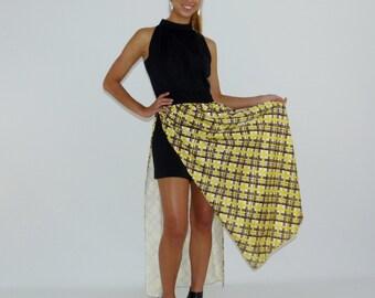 Vintage Maxi Dress, Halter Maxi Dress, 60s Black Dress, Peek-a-Boo Shorts, Size Medium - Large 8 10