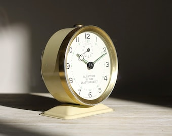 Unique French Vintage Alarm Clock Bayard Mid Century