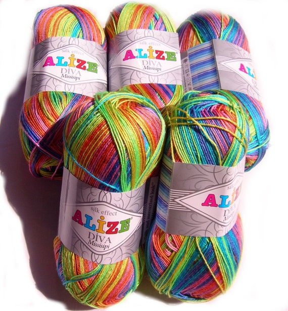 Microfiber Yarn. Alize Diva Missisipi Yarn Diva By HandyFamily