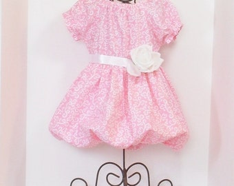 GIRLS BUBBLE DRESS Size 3 months to 6 Spring Clothes Baby Toddler Bubble Dress 3mo  6mo 9mo 12mo 18mo 24mo 2T 3T 4T 5 6