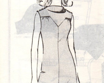 Bust 32-FACTORY FOLDED 1960's Misses' Dress Mail Order Pattern 417 Sz 12