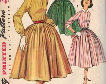 Bust 32-1950 Misses' Dress Simplicity 1683 Size 12