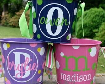 Personalized Bucket - Custom - 5-quart Bucket - Child Gift - Playroom - Toy storage - Baby Gift - Custom Storage - Personalized Gift
