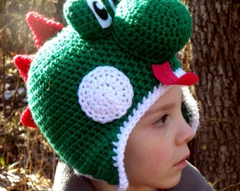 Yoshi Hat Crochet Pattern - Instant Download