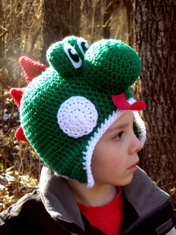 Yoshi Hat Crochet Pattern Instant Download