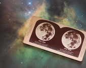 Antique Stereoview of the Full Moon