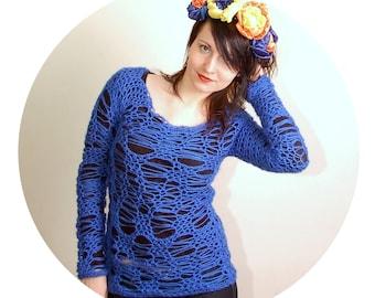 PDF Crochet Pattern - No Stress Sweater - sizes XS/S to 3XL - Womens Crochet Sweater Pattern free photo tutorial bonus instant download