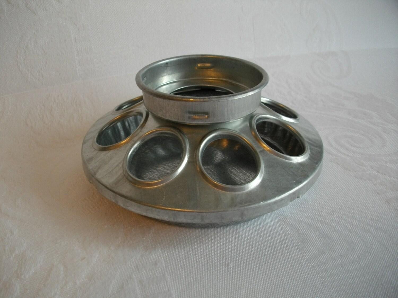 Galvanized chicken feeder for mason jar bird by carlaraevintage