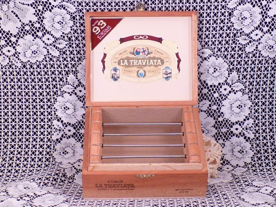 CAO LA TRAVIATA Cigar Box Jewelry Box for European Style Large Hole Beads and Accessories