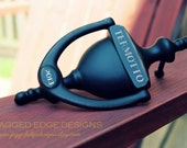 "Custom Engraved ""Cambridge"" Style Solid Brass - AGED BRONZE Door Knocker"