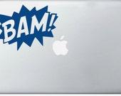 BAM COMIC laptop DECAL- macbook iPad computer- vinyl sticker