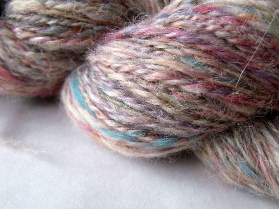Handspun Alpaca Confetti Yarn 250 Yards