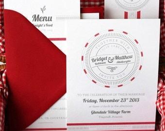 Sweet Jam Wedding Invitation Suite Design --------------- Deposit to get started
