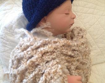 Navy Blue Adjustable Baby Hat
