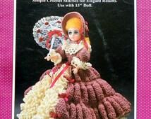 "Fibre Fiber Craft MIRIAM 15"" Doll  - Crochet Doll Clothes Clothing Pattern"