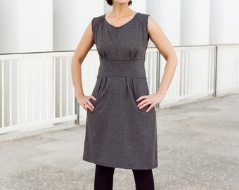 Elegant Dark Grey Sleeveles Dress